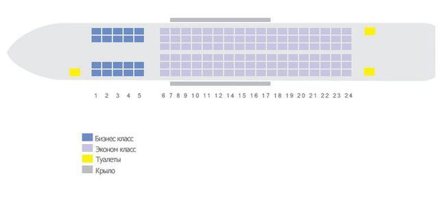 Схема салона самолета Boeing 737-700