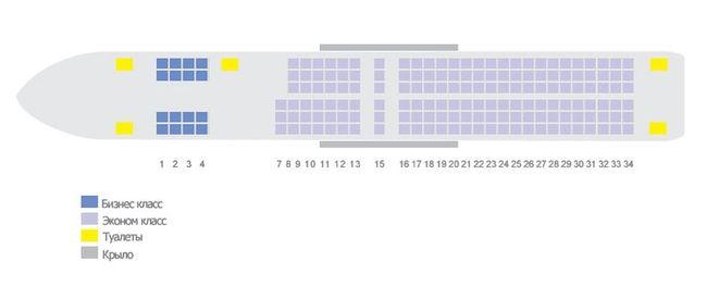 Схема салона самолета Boeing 757-200