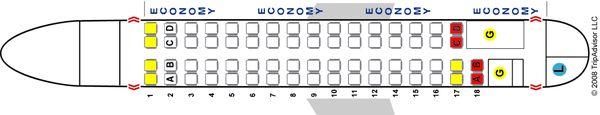 Схема салона самолета Aerospatiale/Alenia 72-500