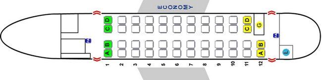 Схема салона самолета Aerospatiale/Alenia 42-500 Vers. 2