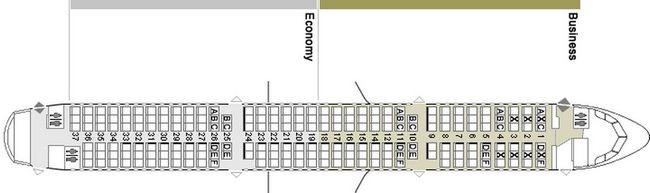 Схема салона самолета Airbus A321-111