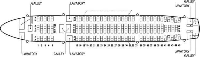 Схема салона самолета Airbus A300-600 AB6P