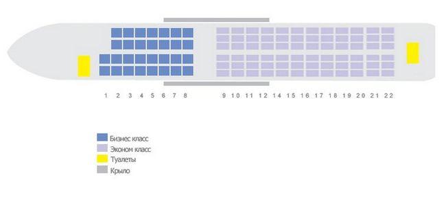 Схема салона самолета Airbus A318